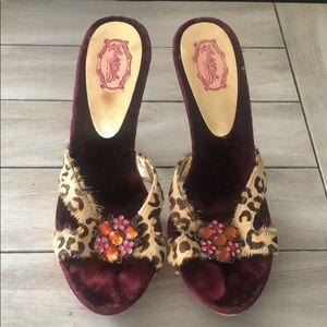 Hale Bob Leopard Heels